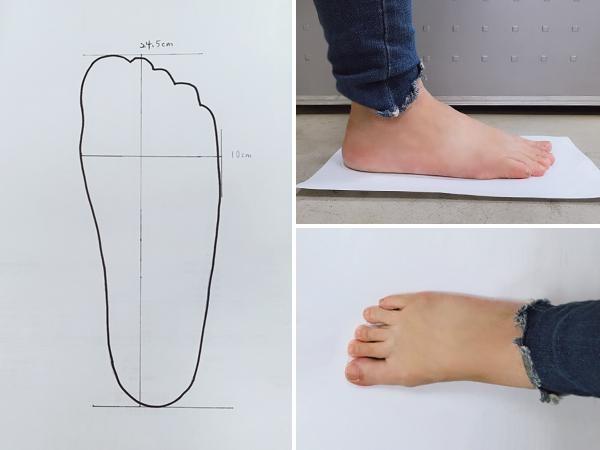 腳的寬度大於 9.5 cm 就屬於腳板寬的腳型(圖片來源:FMshoes)