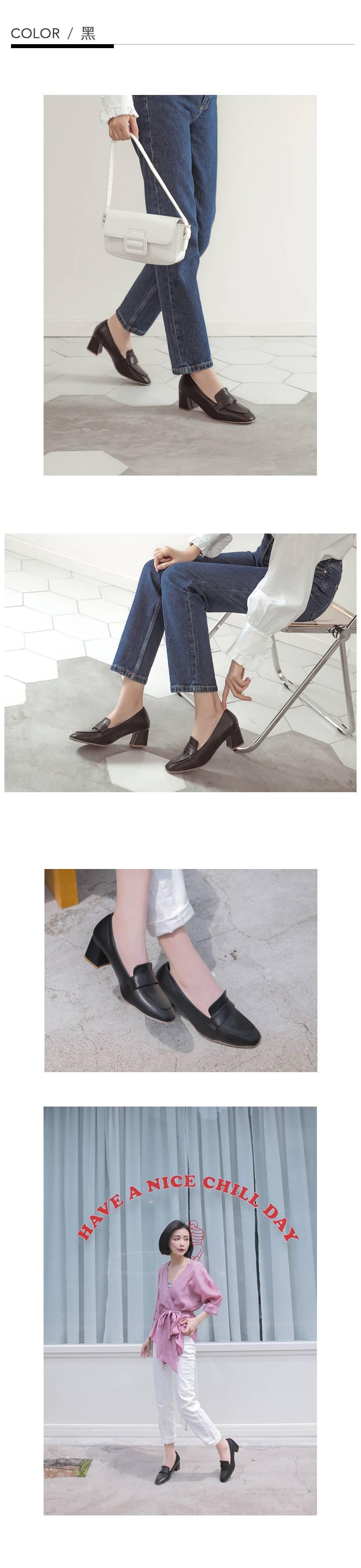 訂製款-方頭高跟紳士鞋