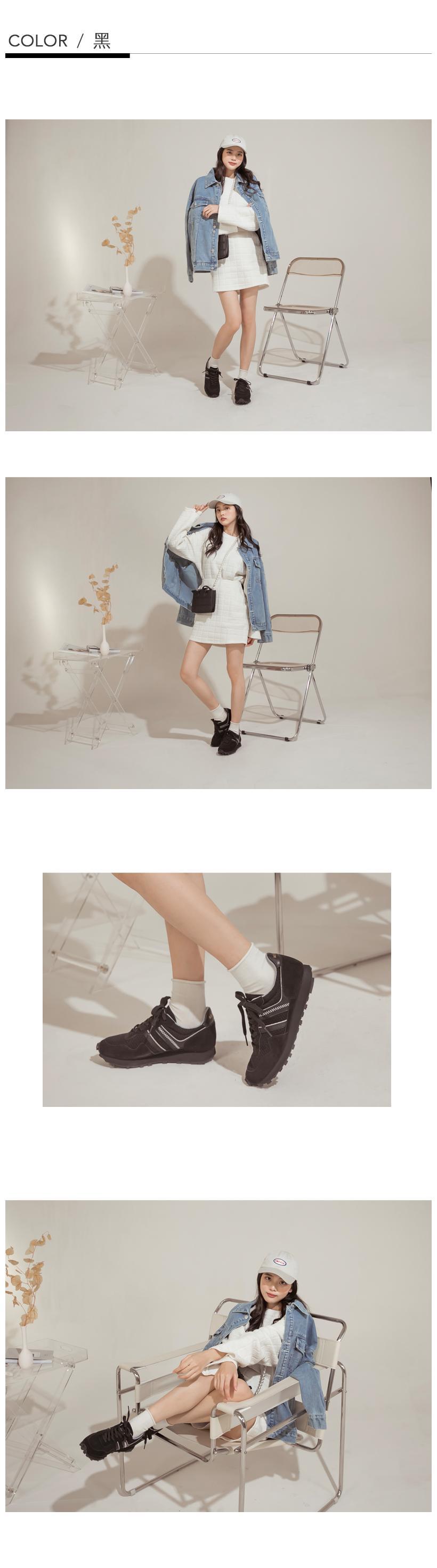 NeuTral-MIT防潑水復古休閒慢跑鞋(白黑)-大尺碼