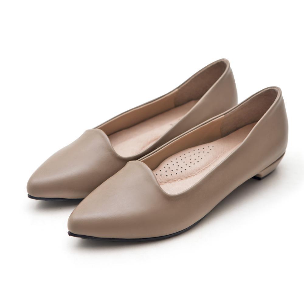 訂製款-尖頭低跟包鞋,腳心墊,足弓,曲線剪裁,上班族,通勤鞋