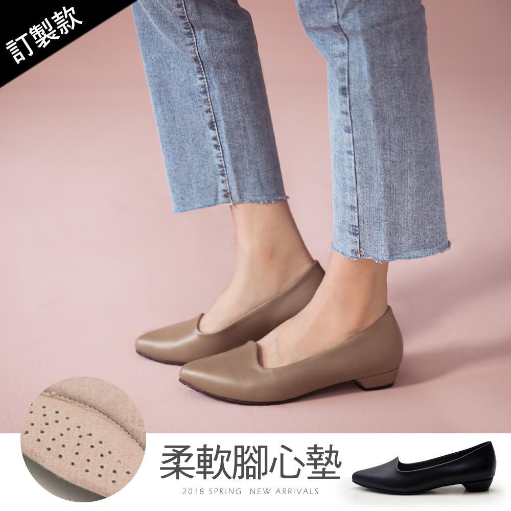 訂製款-尖頭低跟包鞋-大尺碼