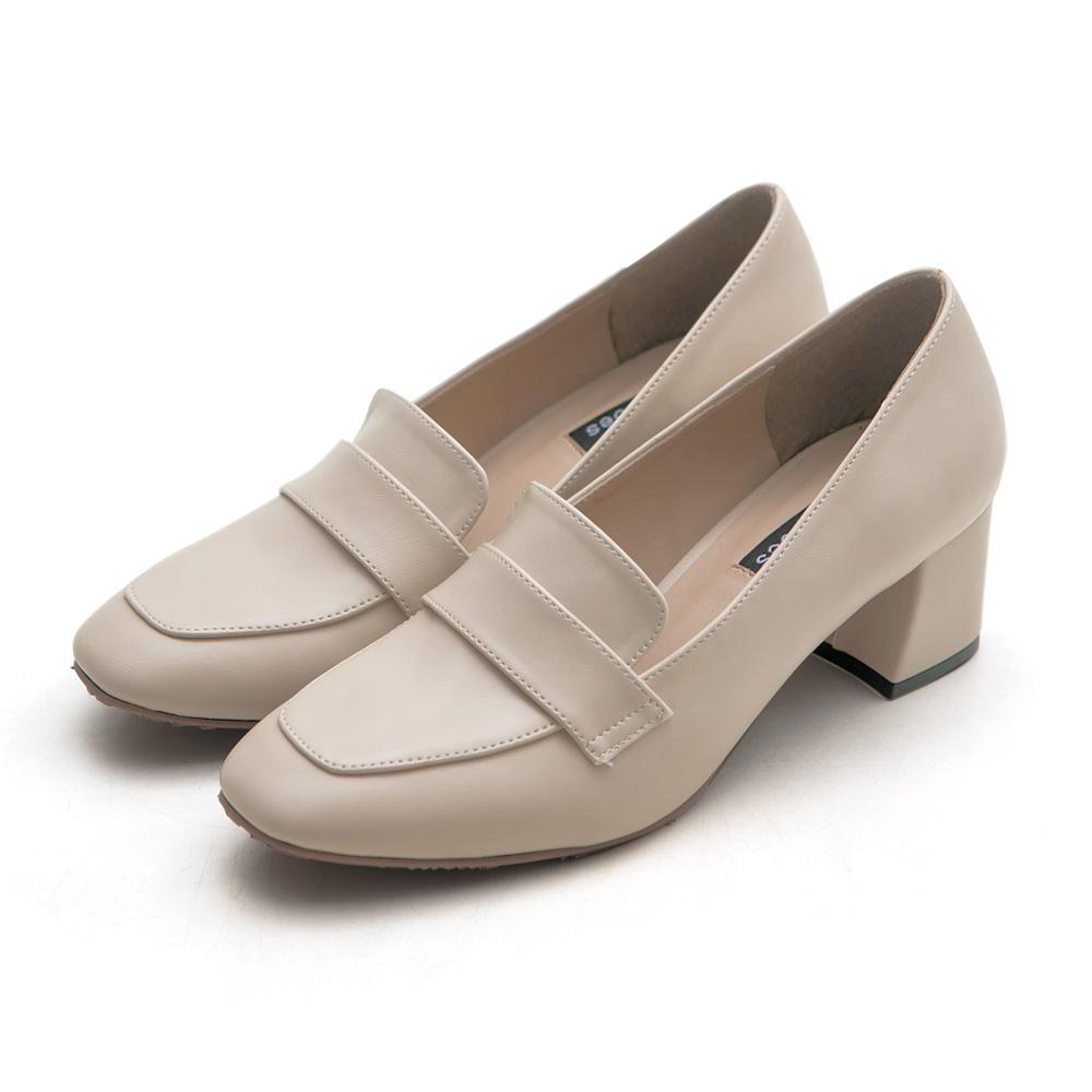 訂製款-方頭高跟紳士鞋,高跟鞋,皮鞋,樂福鞋,OL,上班族