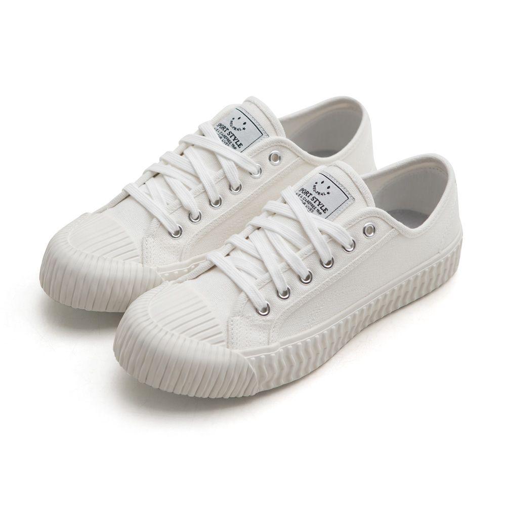 NeuTral-透氣防潑水綁帶餅乾鞋-白,休閒鞋,包鞋,平底鞋,帆布鞋,繫帶