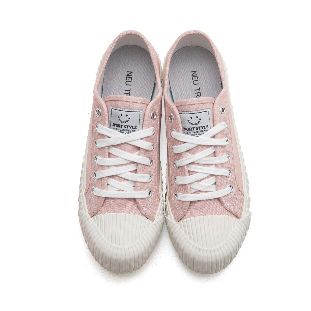NeuTral-透氣防潑水綁帶餅乾鞋-淺粉,休閒鞋,包鞋,平底鞋,帆布鞋,繫帶