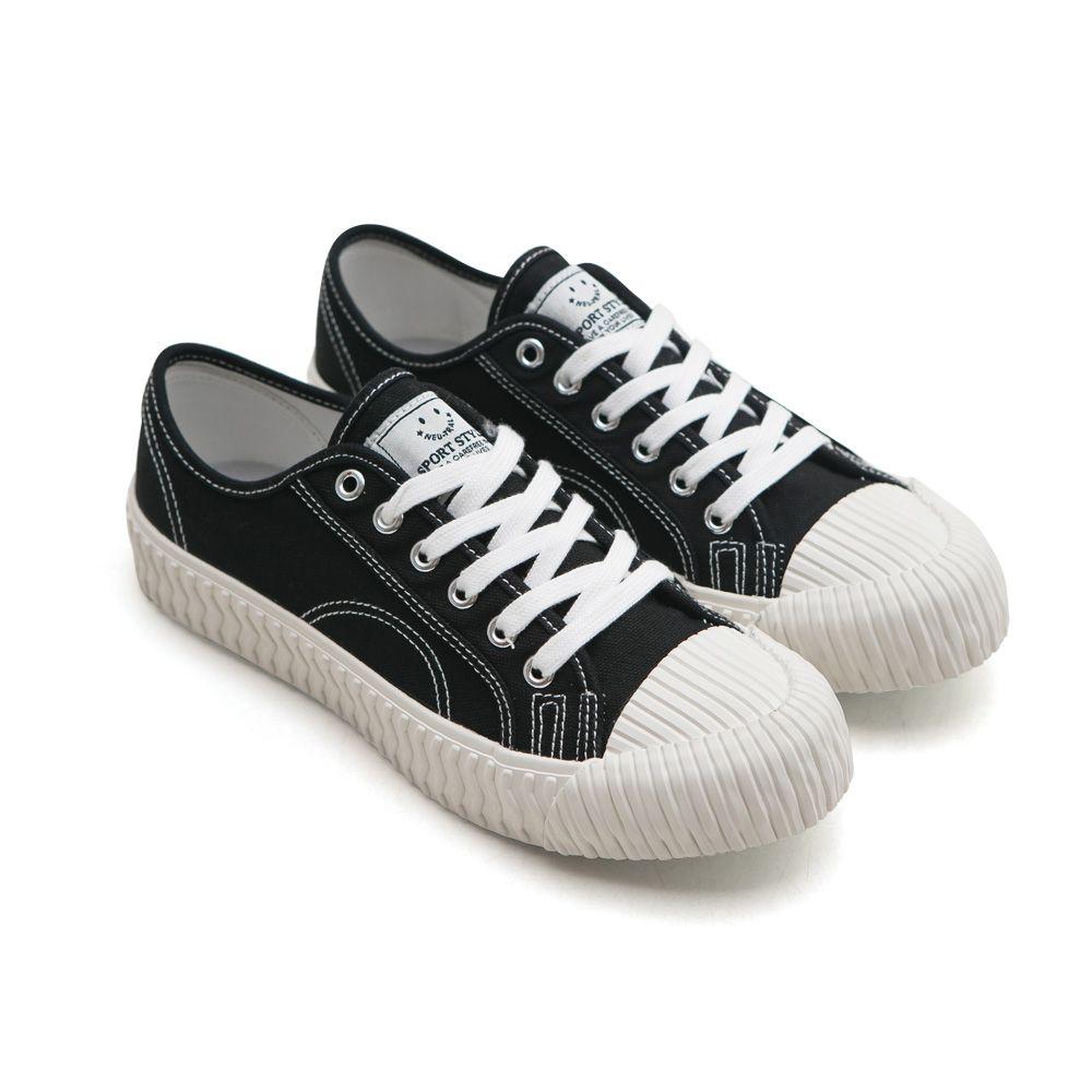 NeuTral-透氣防潑水綁帶餅乾鞋-黑,休閒鞋,包鞋,平底鞋,帆布鞋,繫帶