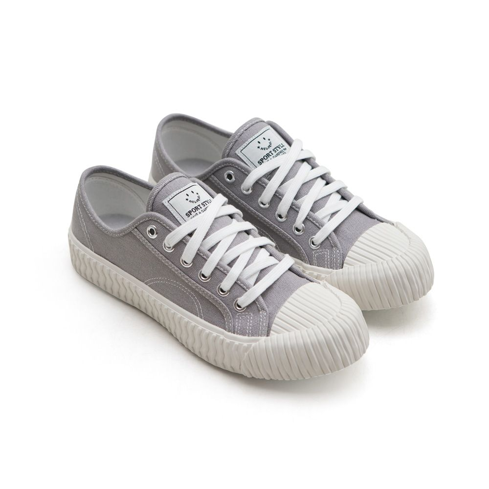 NeuTral-透氣防潑水綁帶餅乾鞋-灰,休閒鞋,包鞋,平底鞋,帆布鞋,繫帶
