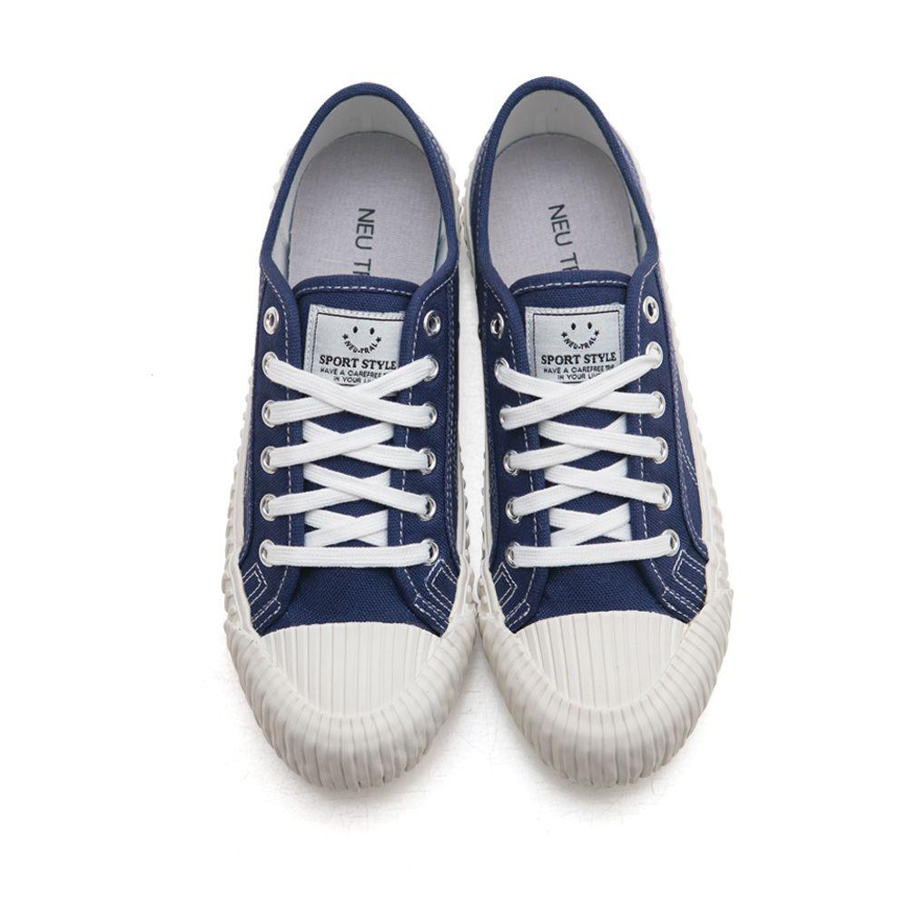 NeuTral-透氣防潑水綁帶餅乾鞋-深藍,休閒鞋,包鞋,平底鞋,帆布鞋,繫帶