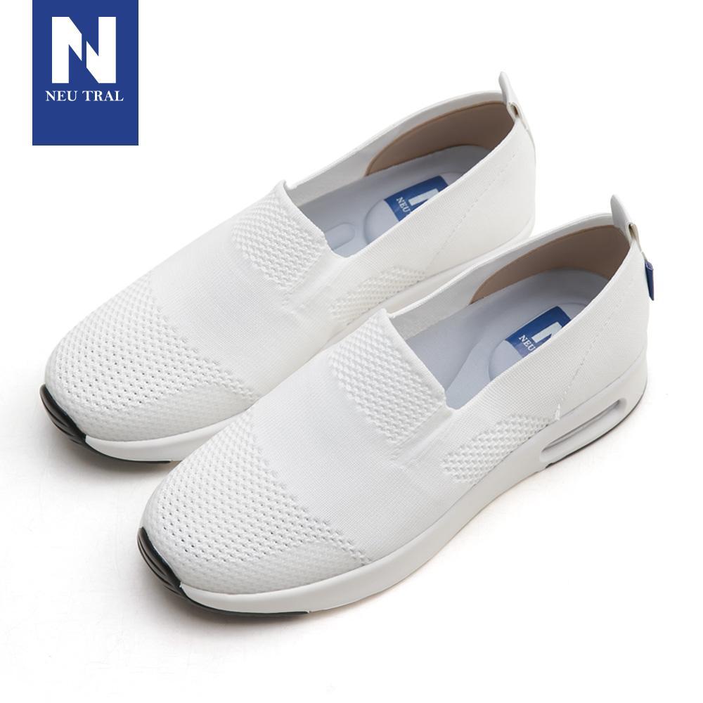 NeuTral-冰絲涼感輕量氣墊鞋-白