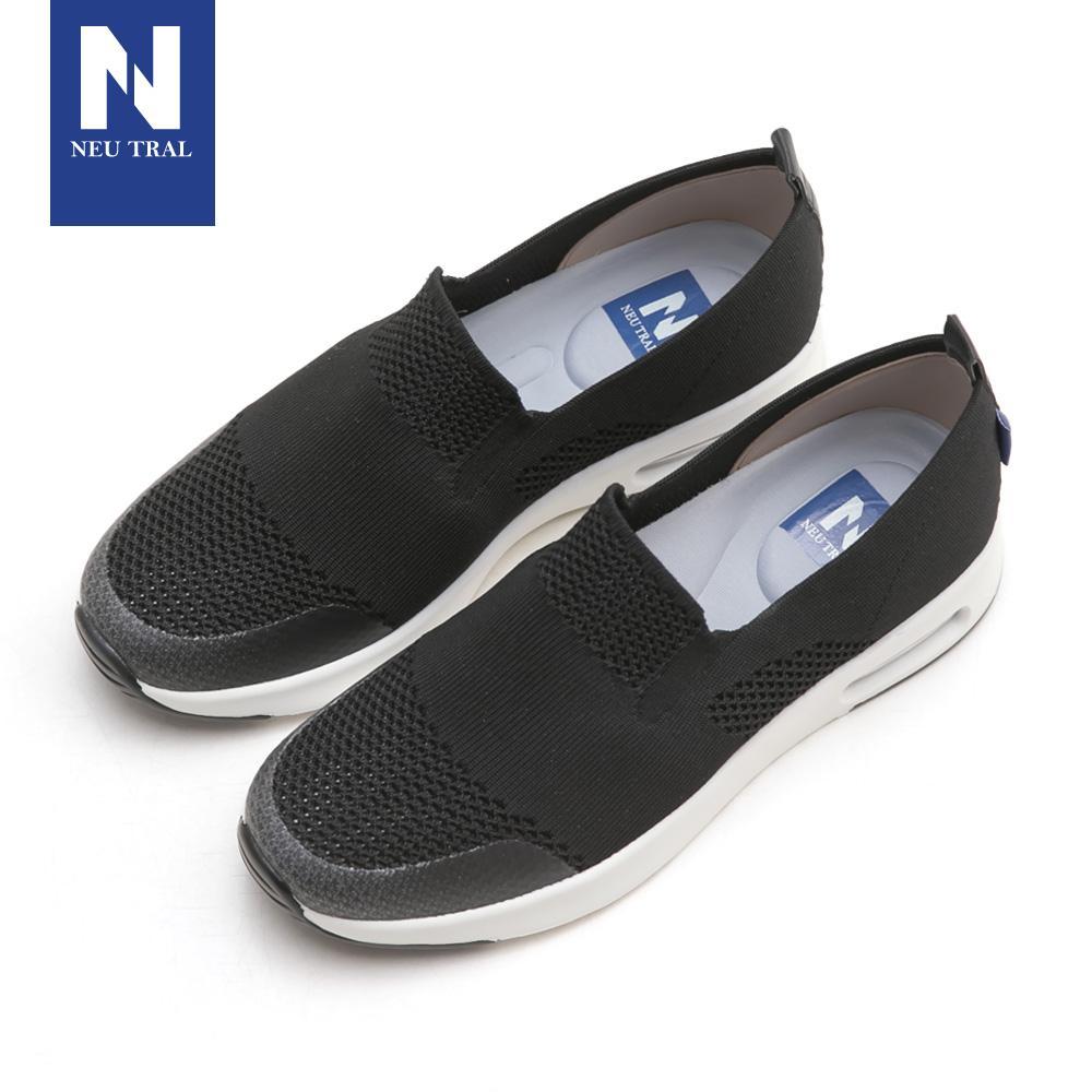 NeuTral-冰絲涼感輕量氣墊鞋-黑