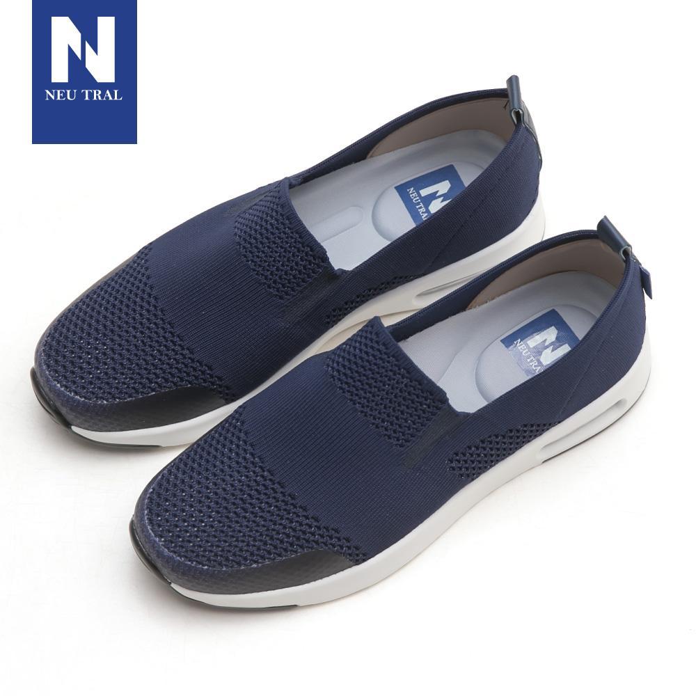 NeuTral-冰絲涼感輕量氣墊鞋-深藍