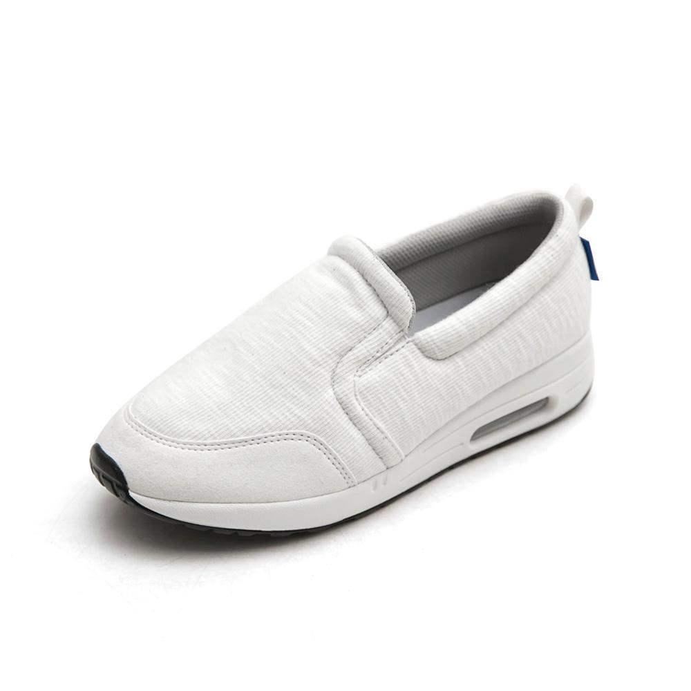 Neu Tral-升級版氣墊懶人鞋(白)-大尺碼,健走,吸震,防滑,氣墊鞋,便鞋