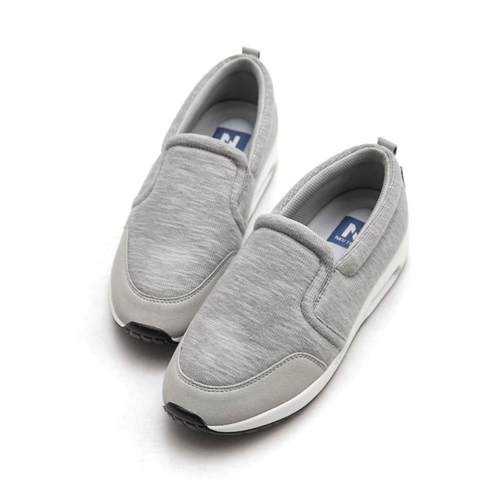 Neu Tral-升級版氣墊懶人鞋(灰)-大尺碼,健走,吸震,防滑,氣墊鞋,便鞋