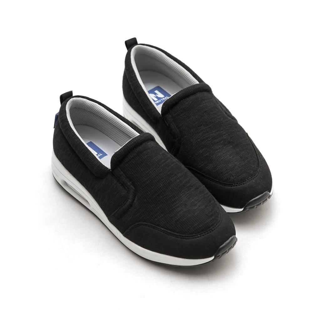 Neu Tral-升級版氣墊懶人鞋(黑)-大尺碼,健走,吸震,防滑,氣墊鞋,便鞋