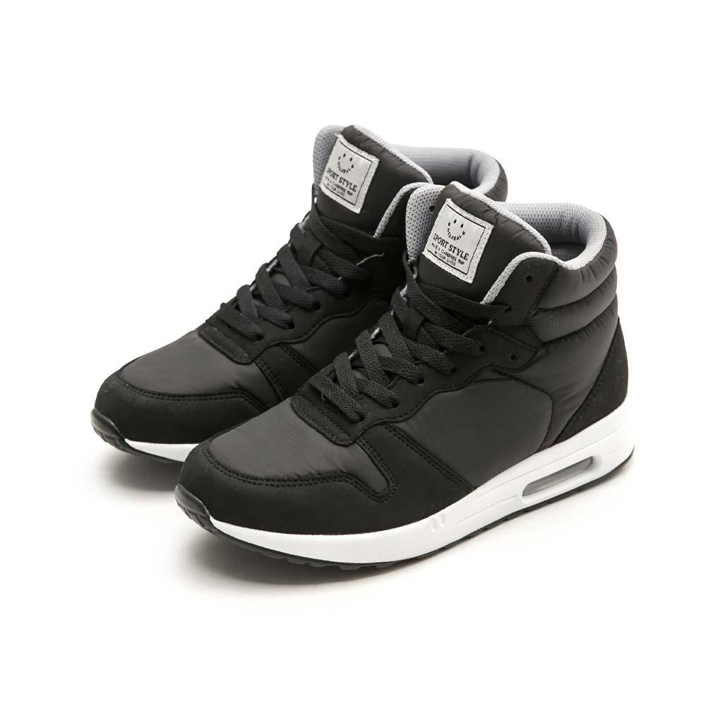 NeuTral-防潑水防風內增高氣墊慢跑鞋(黑)-大尺碼,恆溫,紓壓,緩震,休閒鞋,健走
