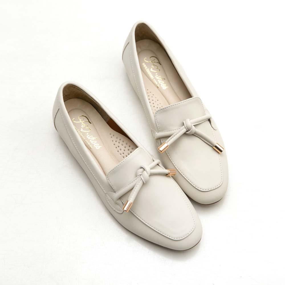 訂製款-防潑水朵結樂福鞋-大尺碼,低跟鞋,包鞋,便鞋,紳士鞋,金屬