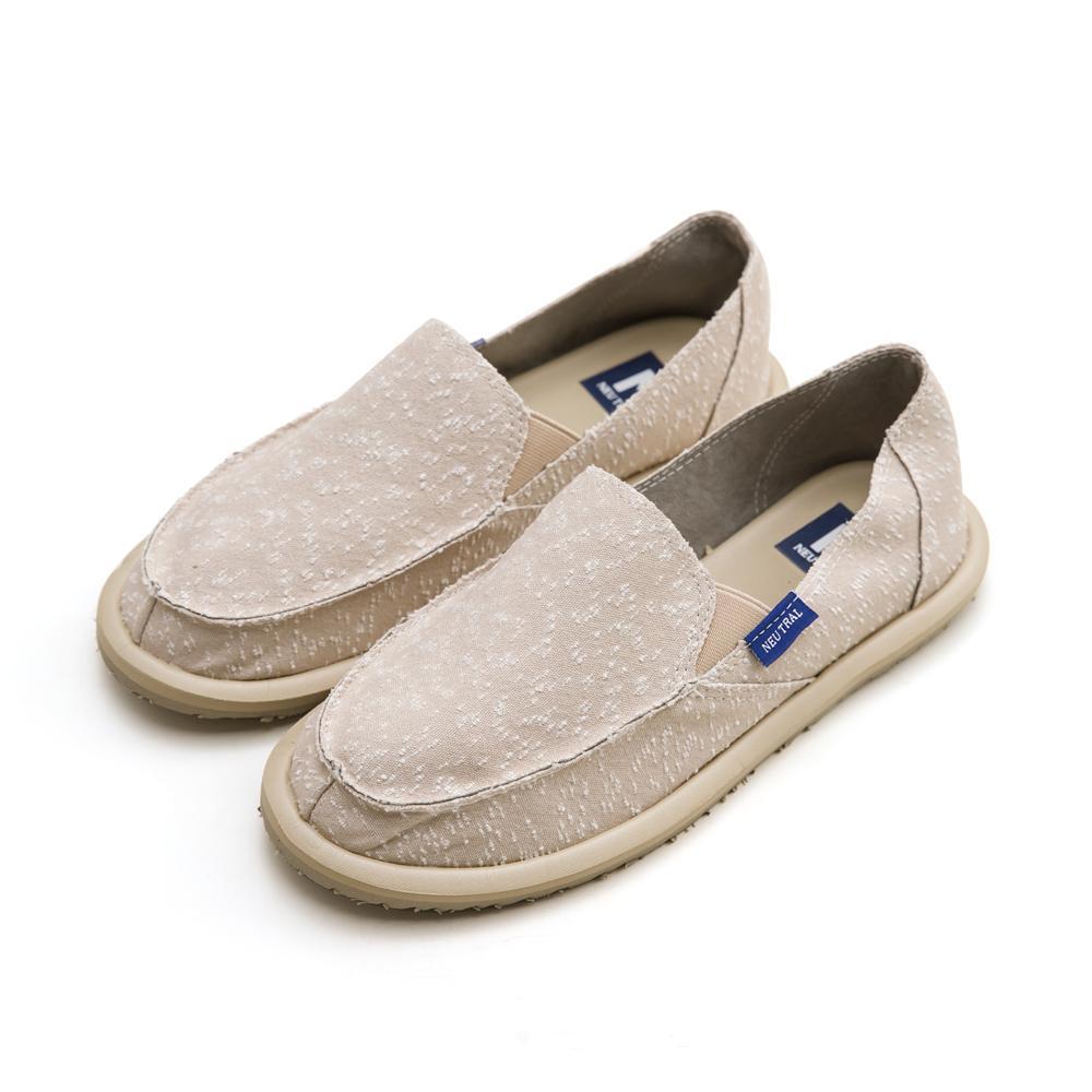 NeuTral-刷破漂浮懶人鞋-杏,單寧,牛仔,便鞋,休閒鞋,包鞋
