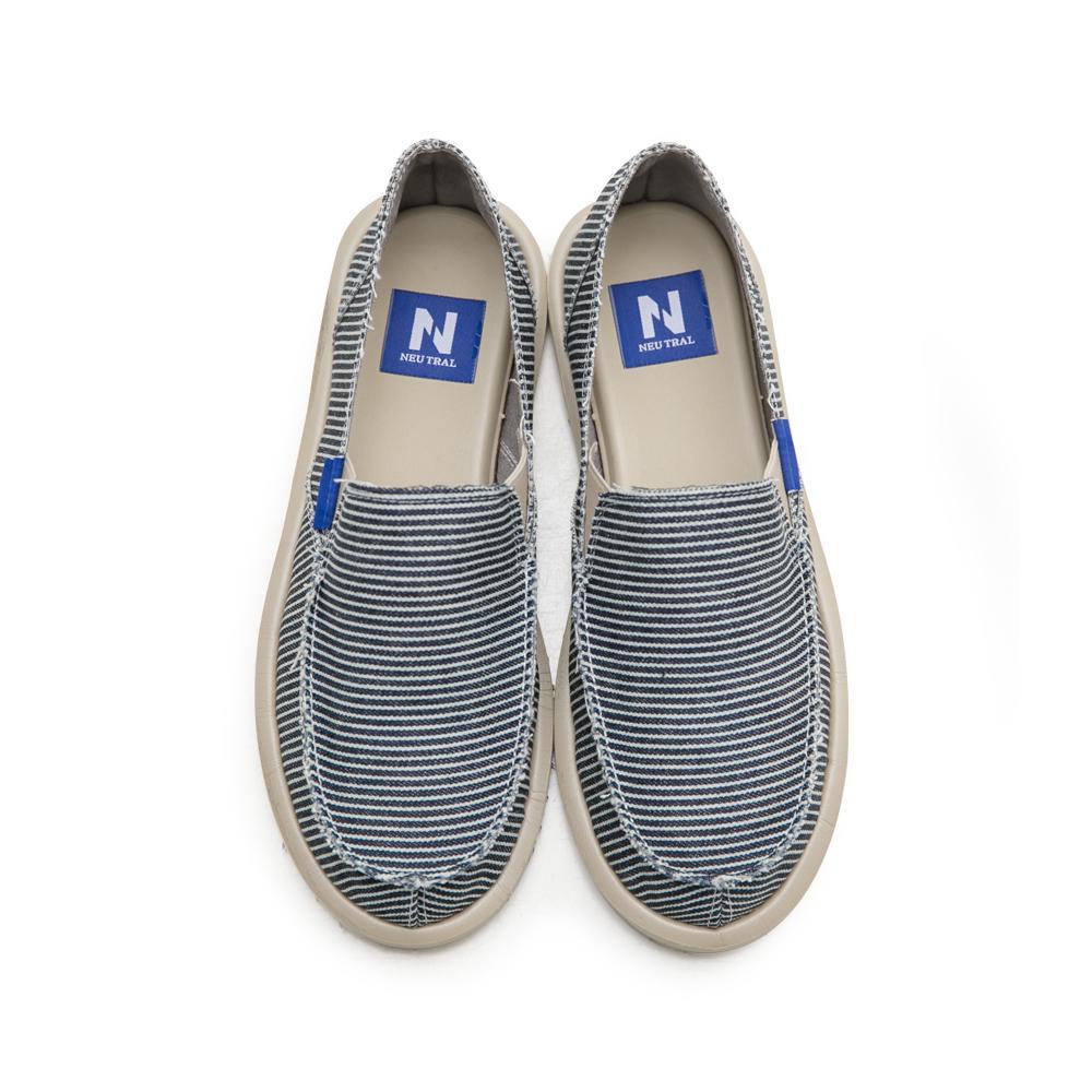 NeuTral-條紋漂浮懶人鞋-黑,海軍風,便鞋,帆布鞋,輕量,超輕