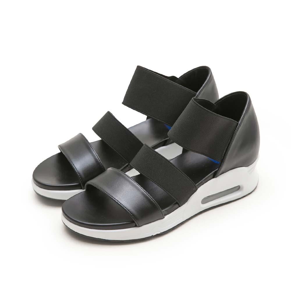 NeuTral-彈性織帶氣墊涼鞋-黑,,,A8-1_00007356,NeuTral-彈性織帶氣墊涼鞋-黑,NeuTral-elasticwebbingcushionsandals-Black