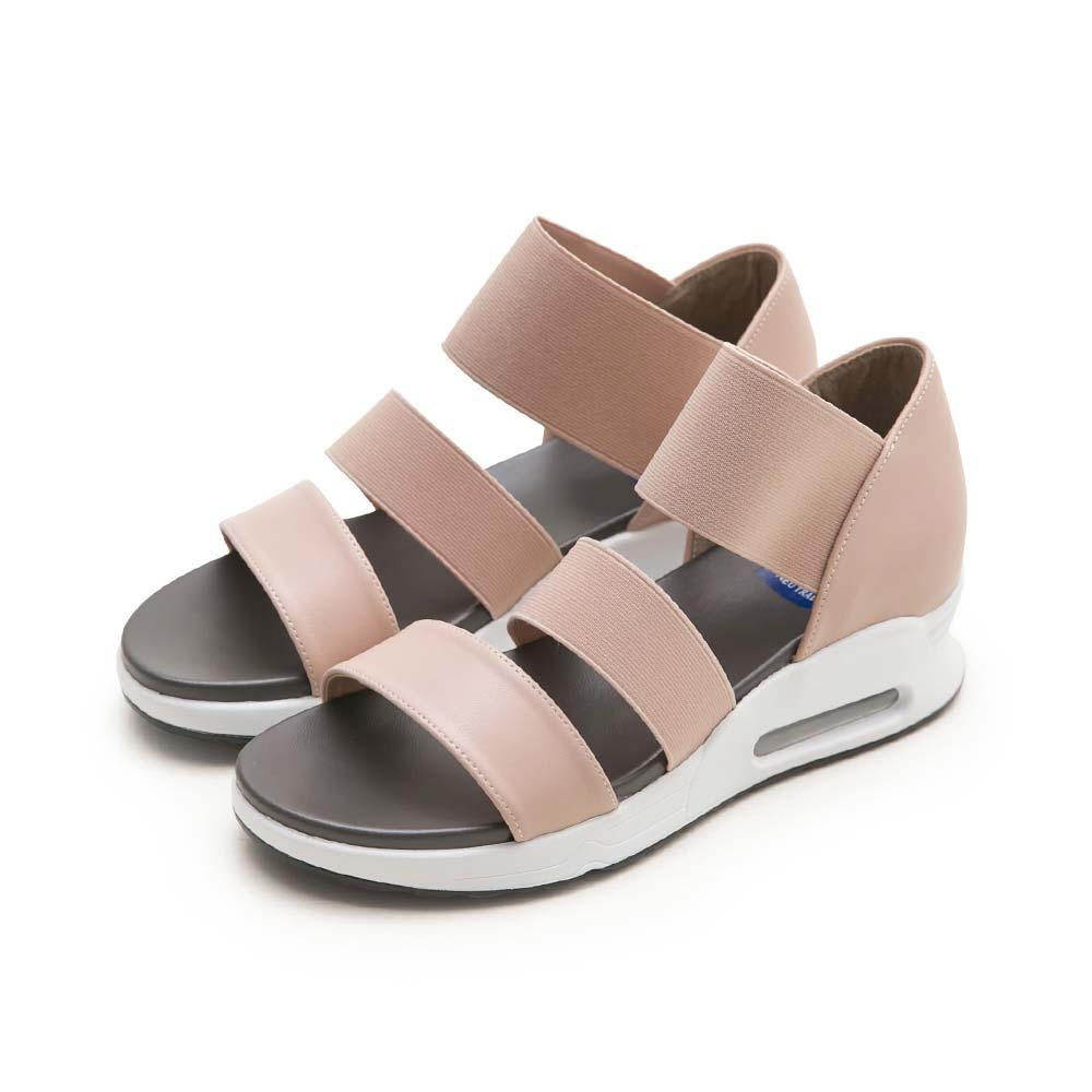 NeuTral-彈性織帶氣墊涼鞋-粉,氣墊鞋,休閒涼鞋,增高鞋,運動涼鞋,平底鞋