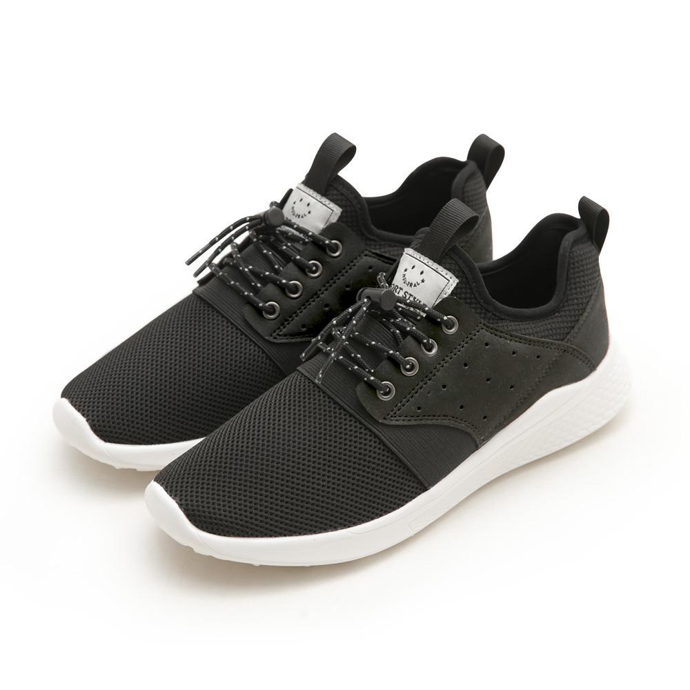 NeuTral-輕量免綁帶涼感彈簧鞋(黑)-男女款,運動鞋,休閒鞋,平底鞋,球鞋,超輕量
