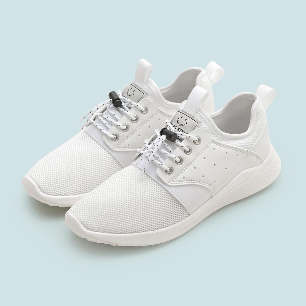 NeuTral-輕量免綁帶涼感彈簧鞋(白)-男女款,運動鞋,休閒鞋,平底鞋,球鞋,超輕量
