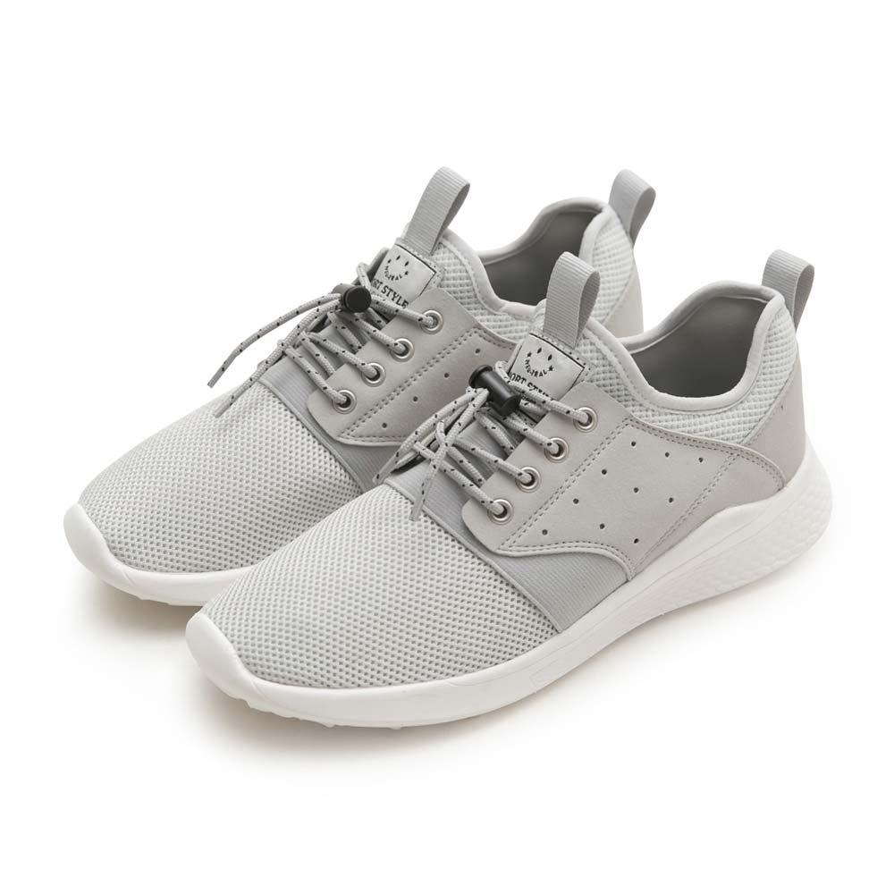 NeuTral-輕量免綁帶涼感彈簧鞋(白灰)-男女款,運動鞋,休閒鞋,平底鞋,球鞋,超輕量