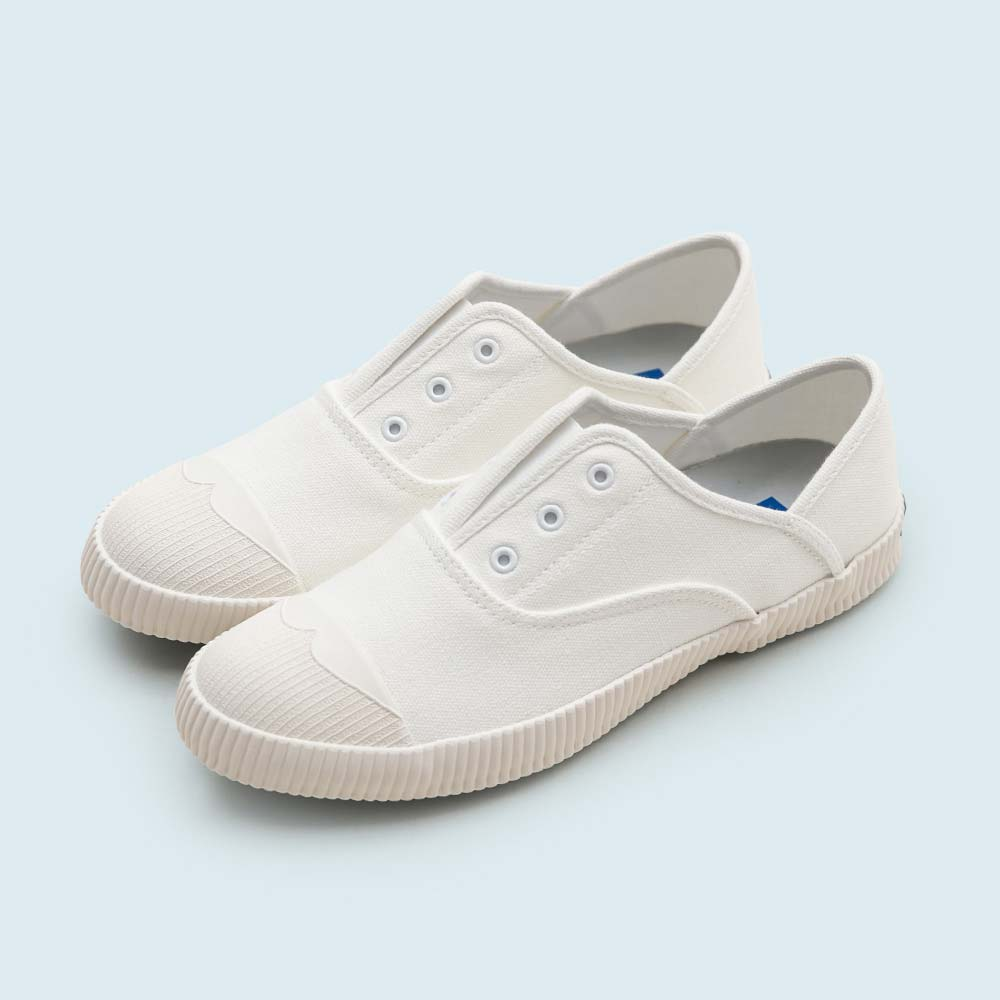 NeuTral-防潑水無鞋帶後踩懶人鞋-米白,免綁帶,包鞋,便鞋,休閒鞋,帆布鞋