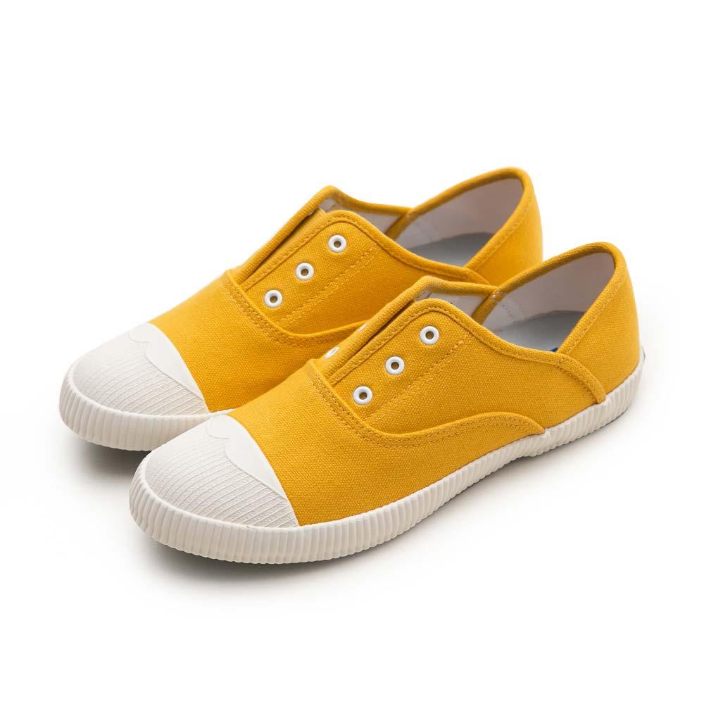 NeuTral-防潑水無鞋帶後踩懶人鞋-黃,免綁帶,包鞋,便鞋,休閒鞋,帆布鞋