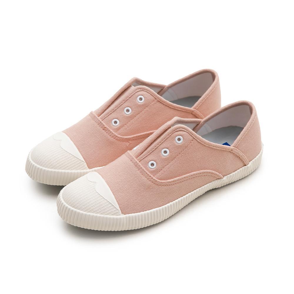NeuTral-防潑水無鞋帶後踩懶人鞋-粉,免綁帶,包鞋,便鞋,休閒鞋,帆布鞋