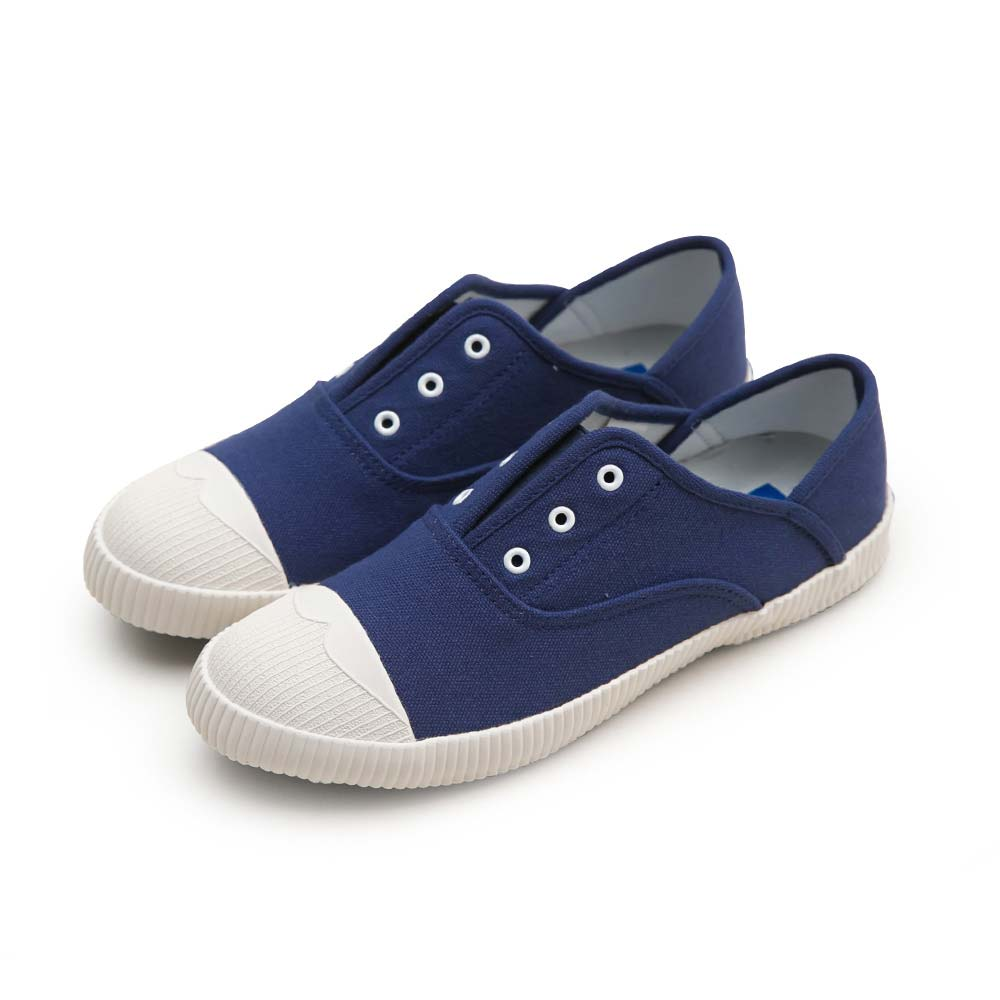 NeuTral-防潑水無鞋帶後踩懶人鞋-深藍,免綁帶,包鞋,便鞋,休閒鞋,帆布鞋