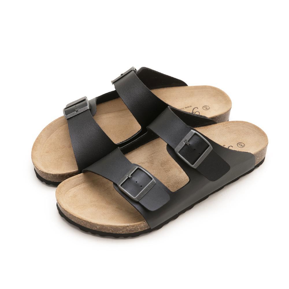 訂製款-古銅方釦休閒拖鞋-Men,人體工學腳床,稻穀,真麂皮鞋墊,真皮鞋墊,健康鞋