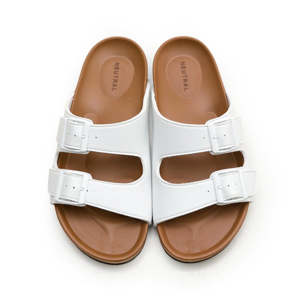 NeuTral-雙帶輕量減壓休閒拖鞋-白,男鞋,男生鞋,男生拖鞋,MIT,台灣製