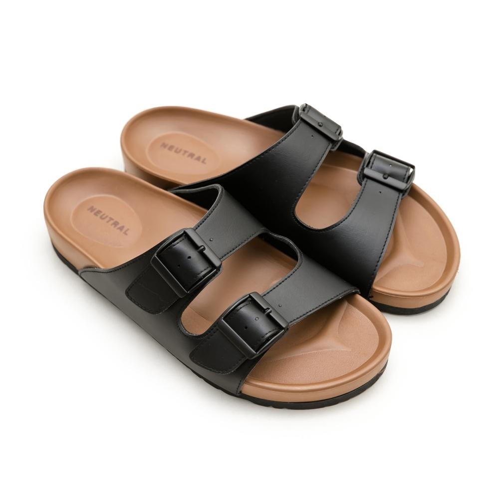 NeuTral-雙帶輕量減壓休閒拖鞋-黑,男鞋,男生鞋,男生拖鞋,MIT,台灣製