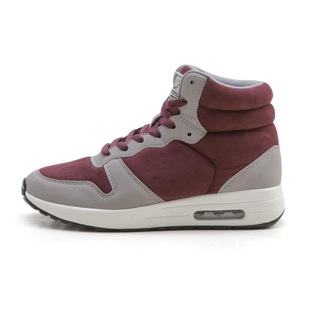 NeuTral-防潑水撞色內增高氣墊鞋(酒紅)-大尺碼,靴子,包鞋,球鞋,休閒鞋,黑靴
