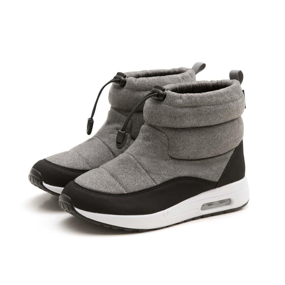 NeuTral-防潑水束口內增高氣墊靴(灰)-大尺碼,靴子,包鞋,休閒鞋,黑靴,低筒靴