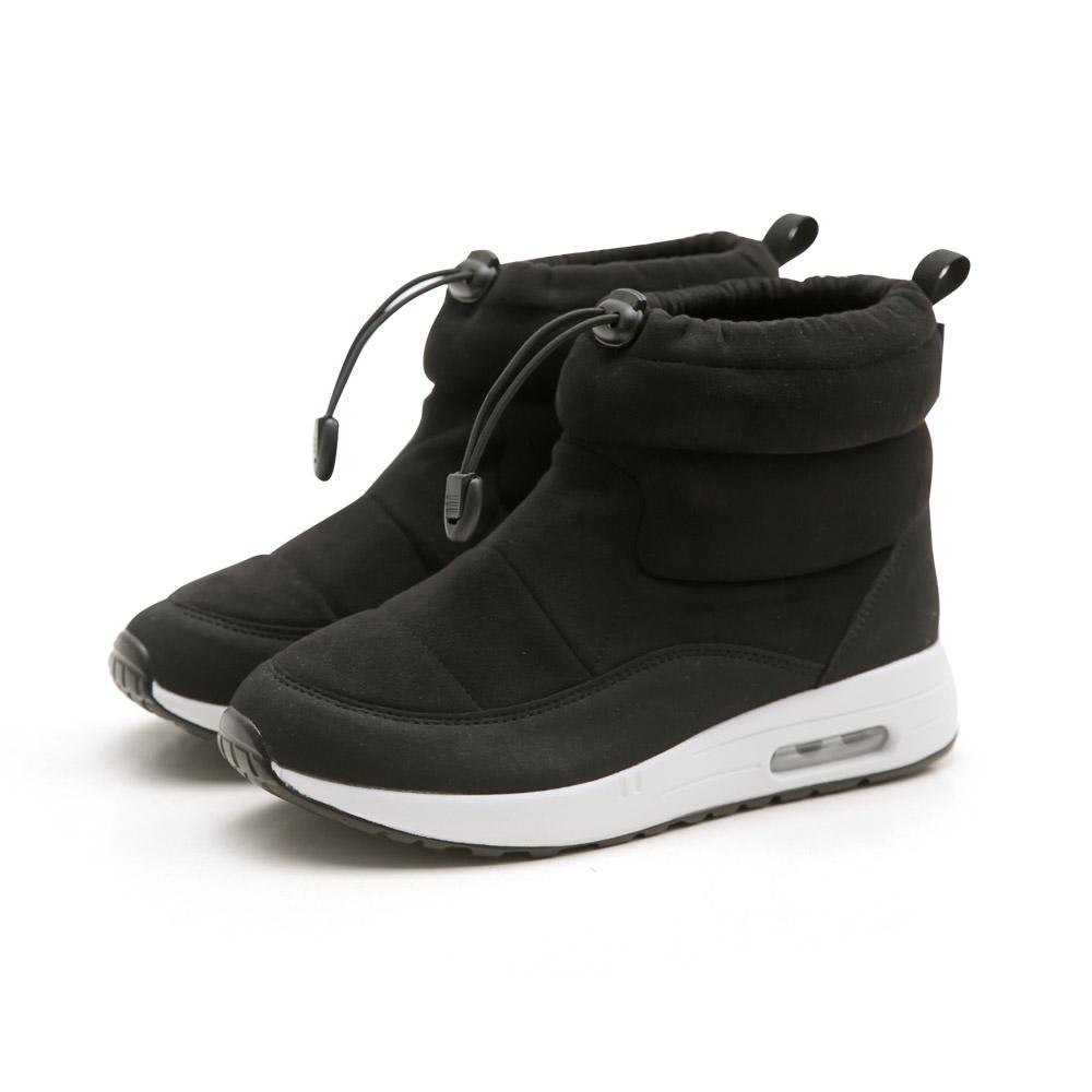 NeuTral-防潑水束口內增高氣墊靴(黑)-大尺碼,靴子,包鞋,休閒鞋,黑靴,低筒靴