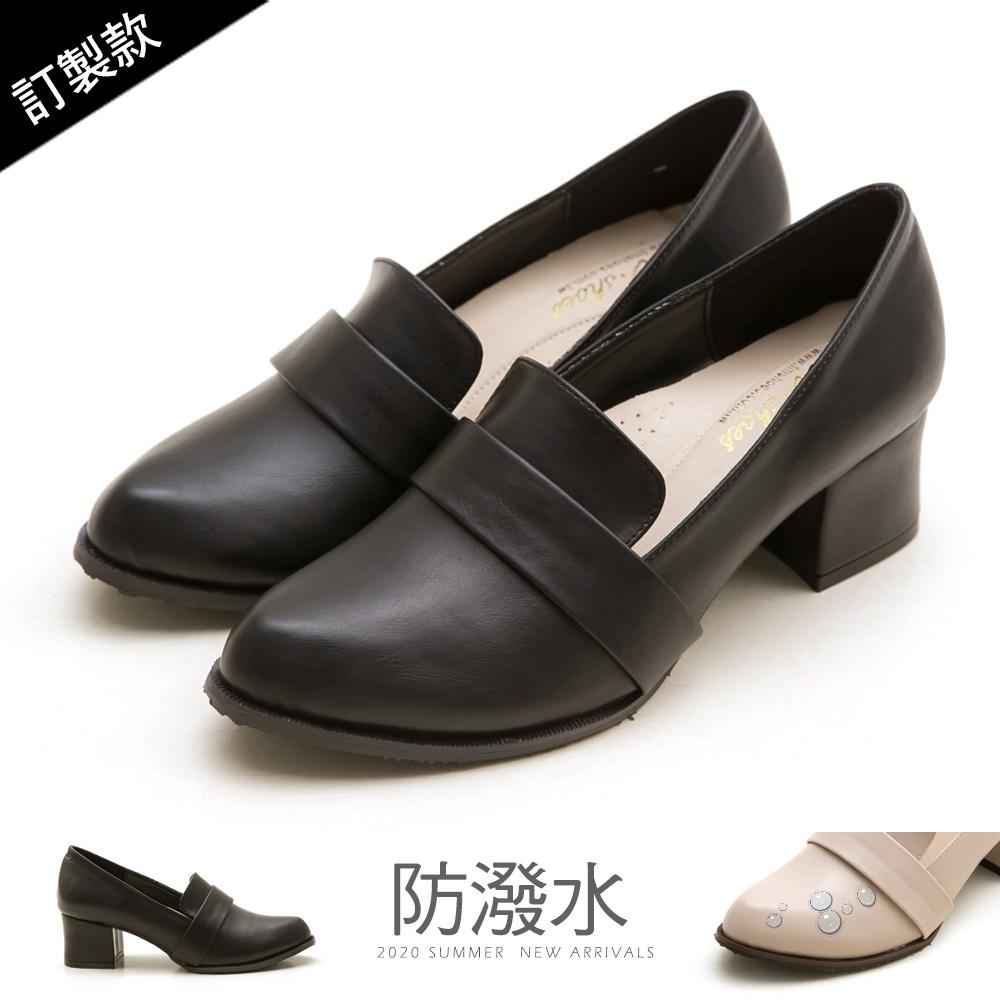 訂製款-復古女伶高跟紳士鞋-大尺碼 - 黑