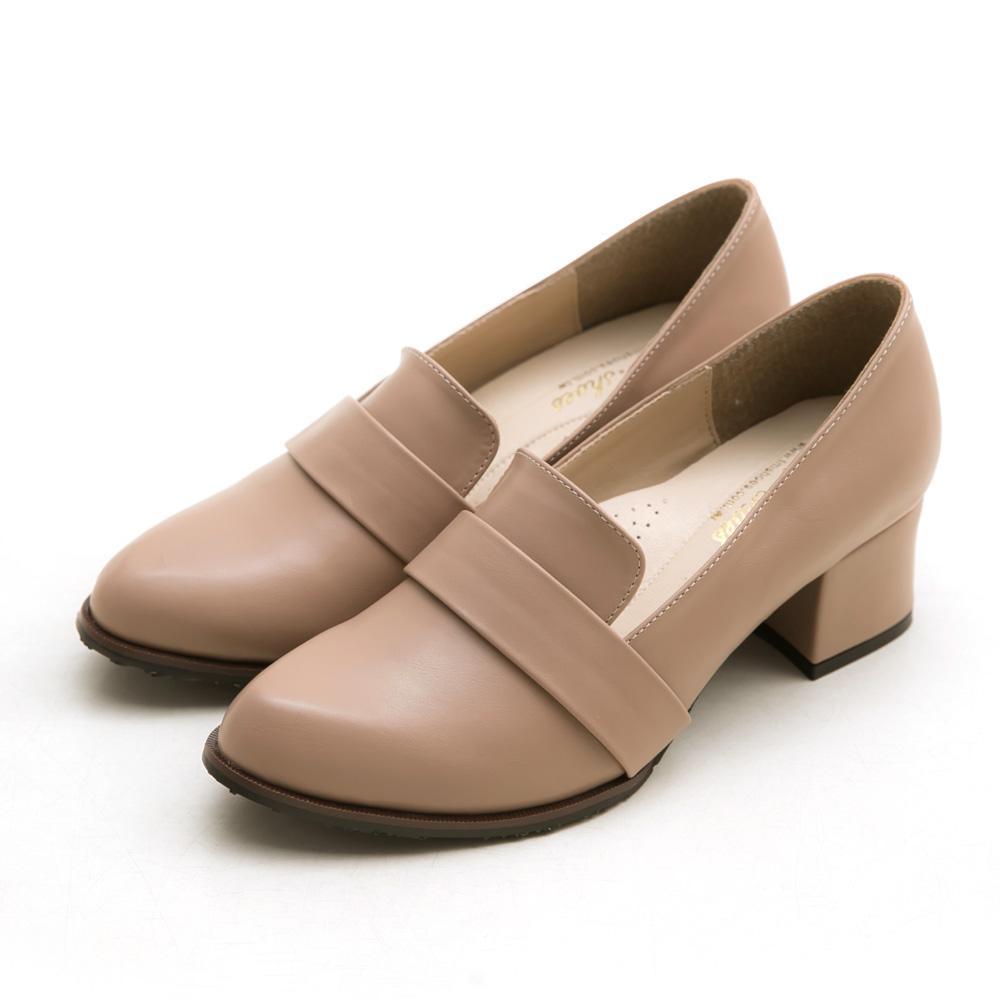 訂製款-復古女伶皮革高跟包鞋-大尺碼,皮帶,素面,腳心墊,乳膠鞋墊,透氣