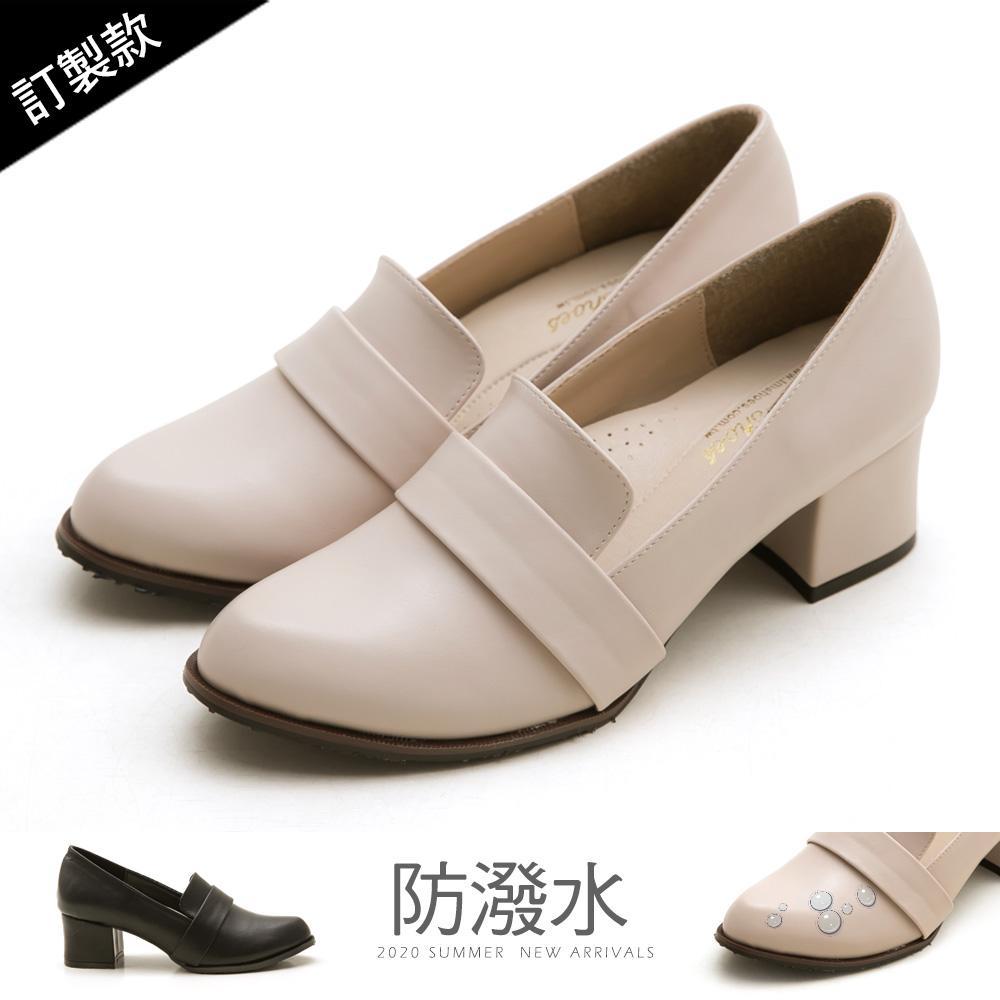 訂製款-復古女伶高跟紳士鞋-大尺碼 - 米