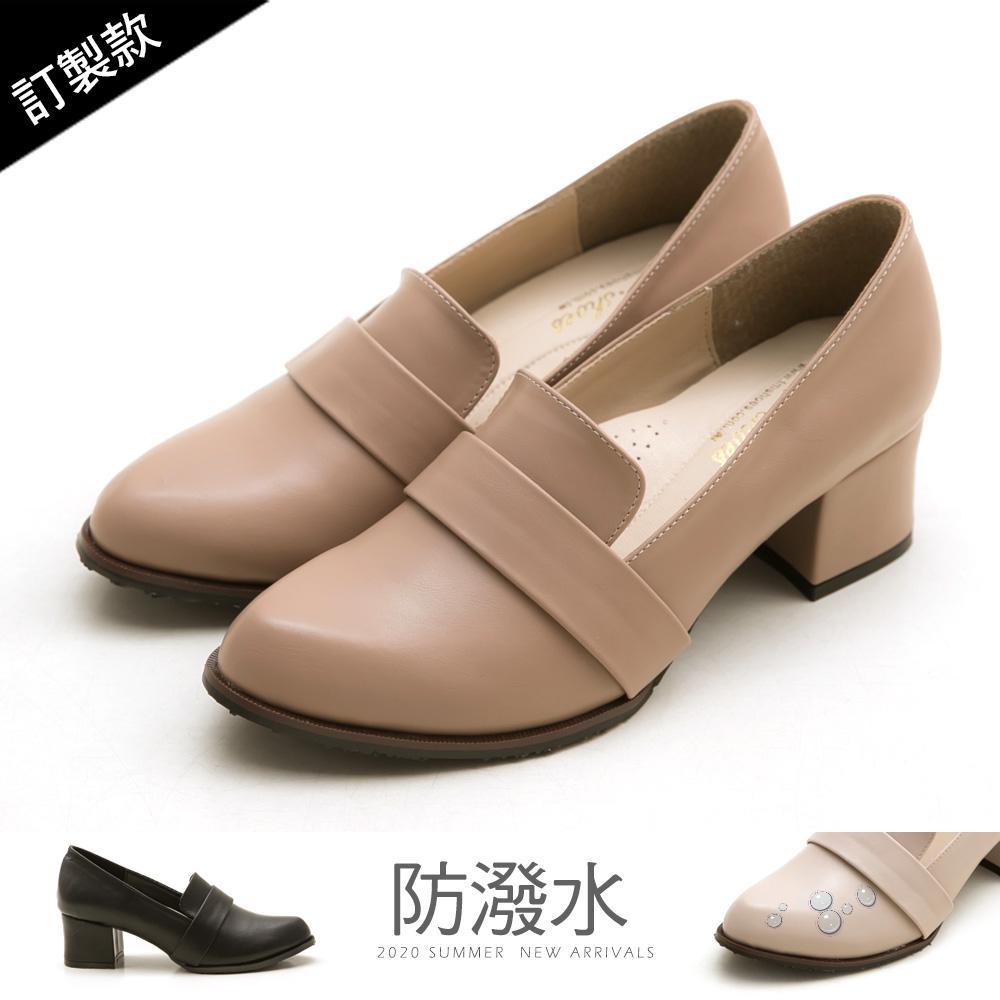 訂製款-復古女伶高跟紳士鞋-大尺碼 - 粉