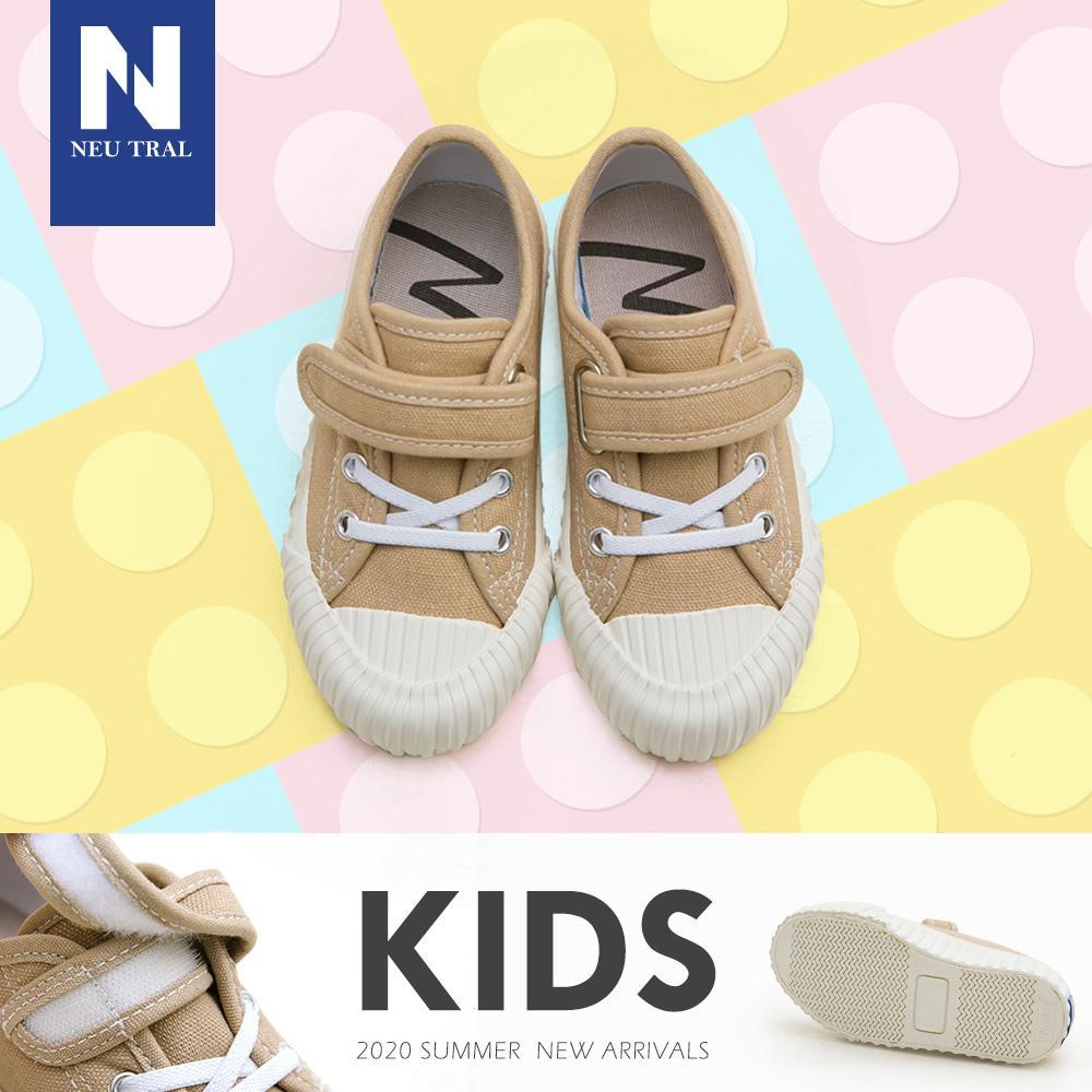 NeuTral-奶茶色防潑水餅乾鞋(卡其)-KID