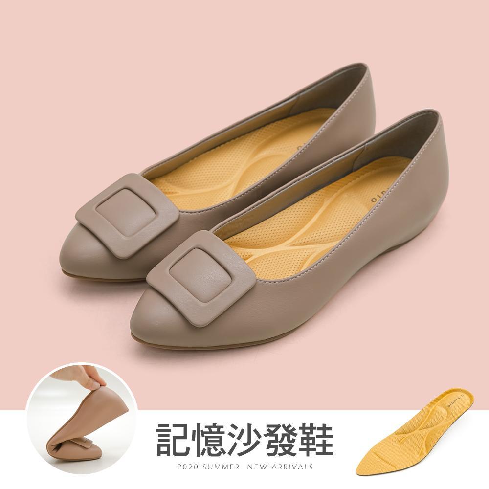JJ-方釦防潑水內增高沙發鞋(灰)-大尺碼
