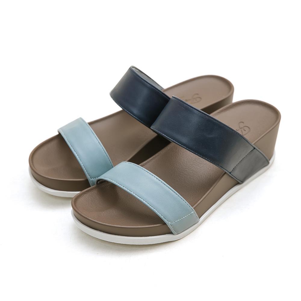 訂製款-二代涼感撞色雙帶楔型拖鞋(藍)-大尺碼,,,J200306-4_00007779,訂製款-二代涼感撞色雙帶楔型拖鞋(藍)-大尺碼,customized-twogenerationofcoolfeelingshitthecolordoublebeltingwedgeslipper(Blue)-thebigmeasurement