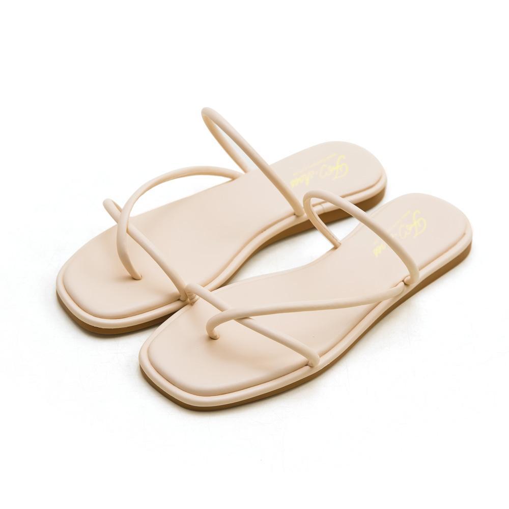 方頭細帶交叉套趾拖鞋,,,145-8_00007834,方頭細帶交叉套趾拖鞋,square head thin strap cross toe slippers