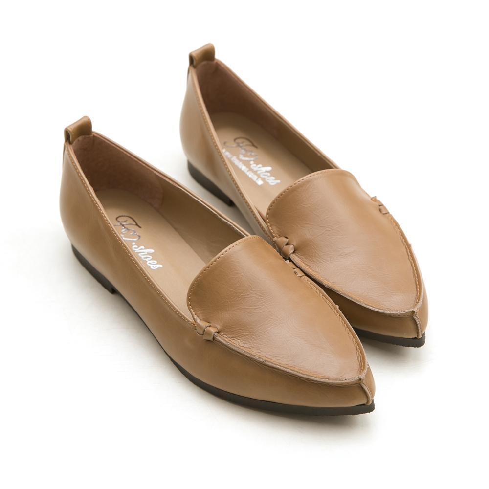 訂製款-俐落風格尖頭平底包鞋-大尺碼,尖頭鞋,自訂款,大尺碼,大碼,大尺寸