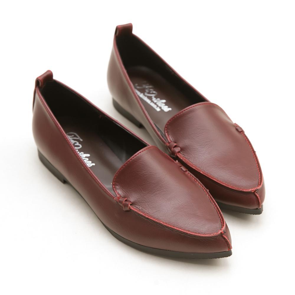 訂製款-俐落風格尖頭平底包鞋-大尺碼,尖頭鞋,大碼,大尺寸,平底鞋,MIT