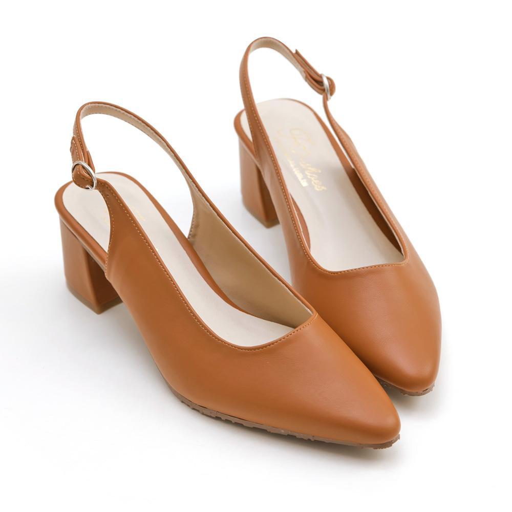 訂製款-尖頭後挖空高跟鞋(棕)-大尺碼,,,A932-3_20008008,訂製款-尖頭後挖空高跟鞋(棕)-大尺碼,Customized-PointedBackHollowHighHeels(Brown)-LargeSize