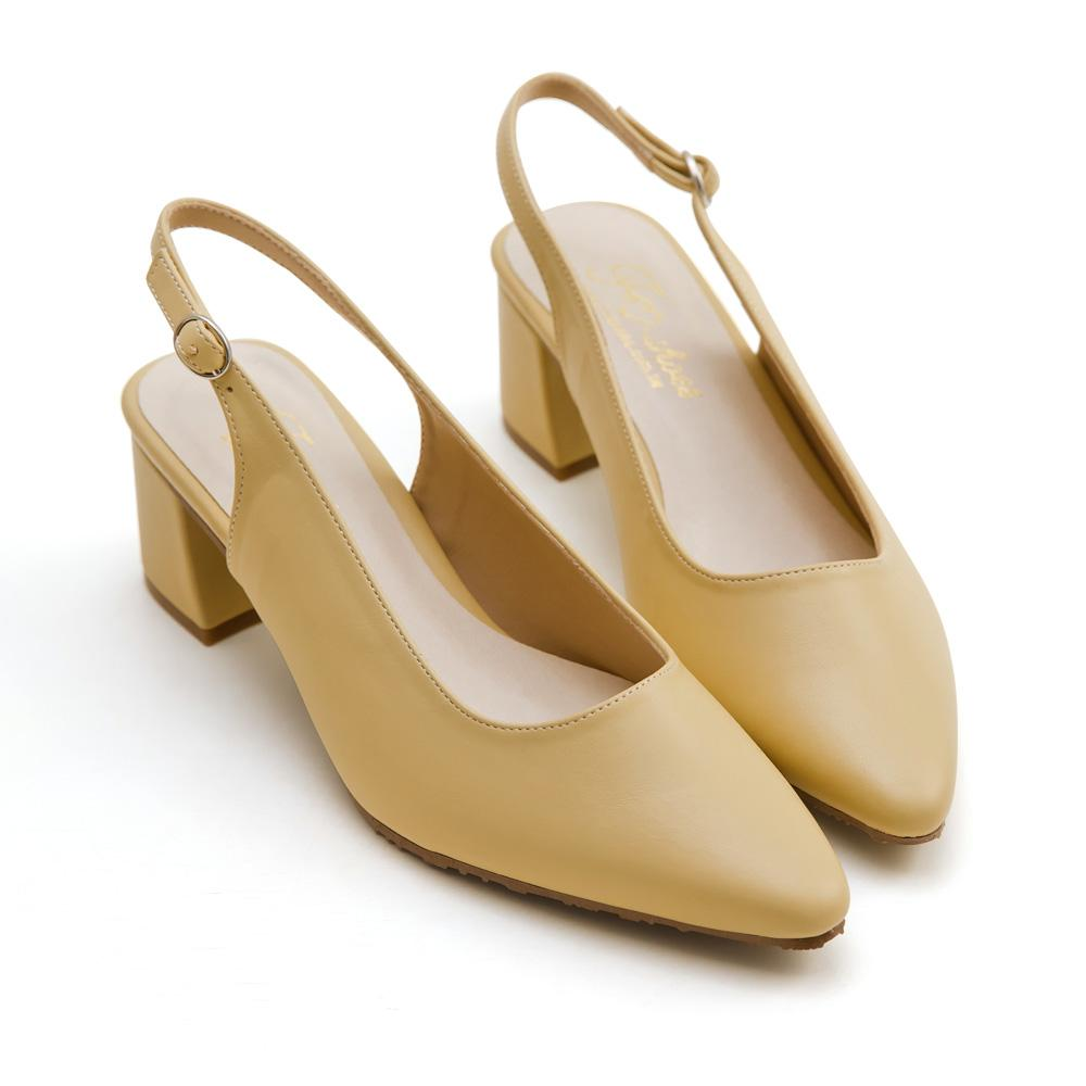 訂製款-尖頭後挖空高跟鞋(黃)-大尺碼,,,A932-4_20008009,訂製款-尖頭後挖空高跟鞋(黃)-大尺碼,Customized-PointedBackHollowHighHeels(Yellow)-LargeSize