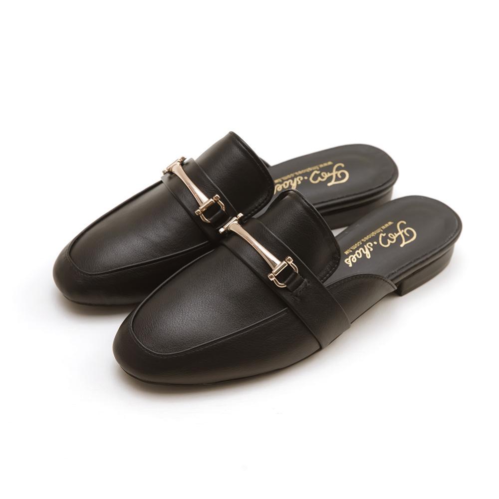 訂製款-金屬馬銜扣穆勒鞋(黑)-大尺碼,,,351-1_20008017,訂製款-金屬馬銜扣穆勒鞋(黑)-大尺碼,Customized-MetalHorsebitMules(Black)-LargeSize