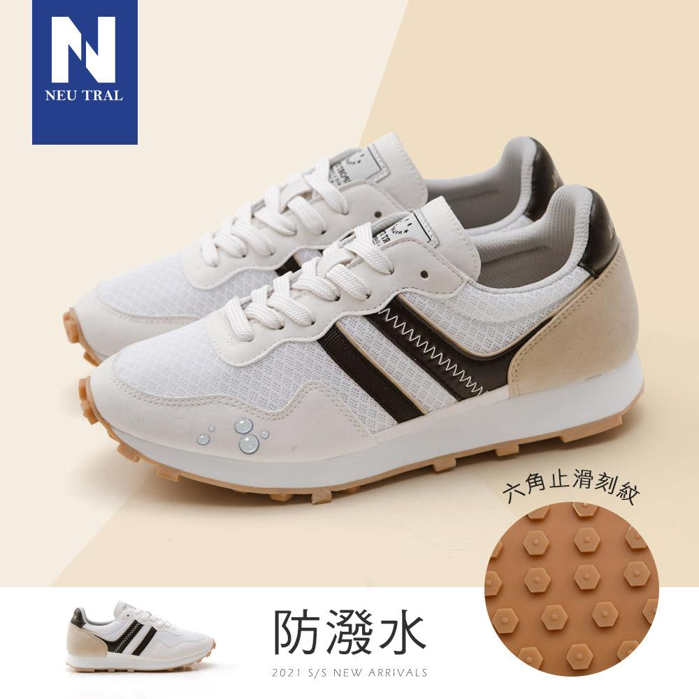 NeuTral-MIT防潑水復古休閒慢跑鞋(白黑)-大尺碼,,,L201216-1_20008032,NeuTral-MIT防潑水復古休閒慢跑鞋(白黑)-大尺碼,NeuTral-MITWaterRepellentandAnti-SlipJoggingShoes(WhiteandBlack)-LargeSize